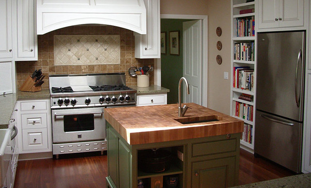 oak butcherblock island countertop by grothouse