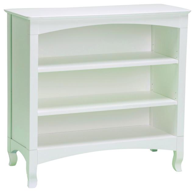 emma white 3 shelf low bookcase contemporary bookcases. Black Bedroom Furniture Sets. Home Design Ideas