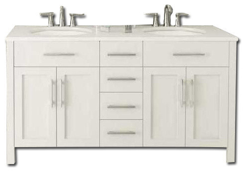 Double Sink Vanity Without Countertop White 72 Modern Bathroom Va