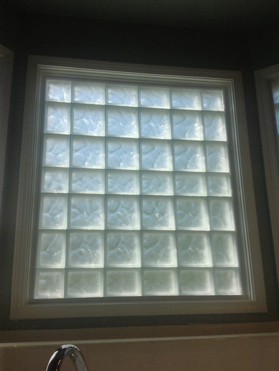 Frosted glass block windows for privacy in a carroll ohio for Glass block window frame