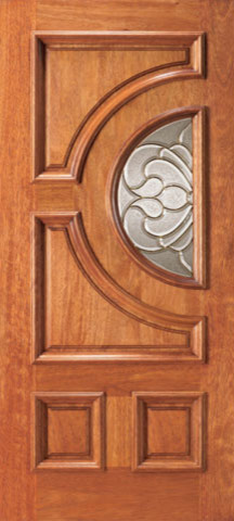 Mahogany radius lite home single door traditional for Front single door design