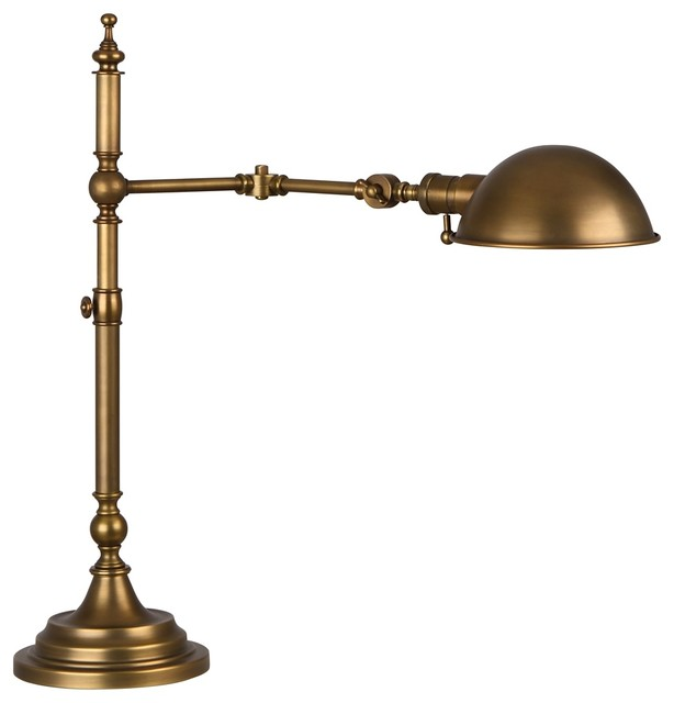 brass pharmacy desk lamp traditional table lamps by lamps plus. Black Bedroom Furniture Sets. Home Design Ideas