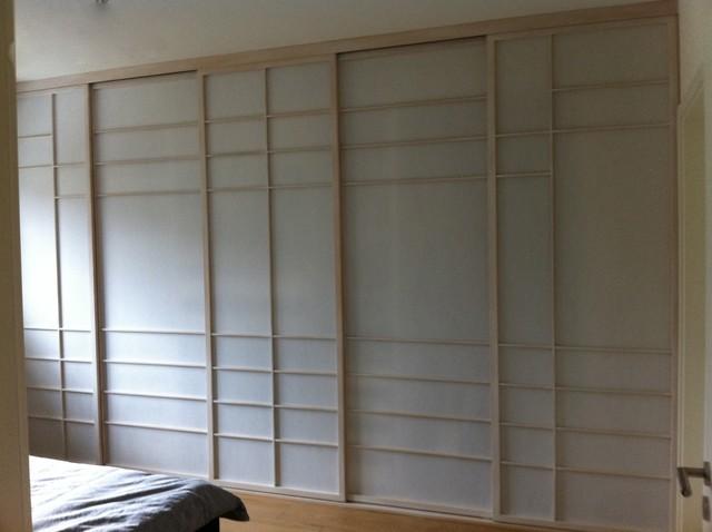 Kleiderschrankfront aus shoji schiebet ren shoji cabinet for Gartenmobel asiatisch
