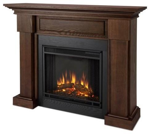 hillcrest indoor electric fireplace chestnut oak modern