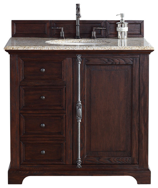 James martin providence 36 single vanity cabinet sable for Bathroom cabinets uk only