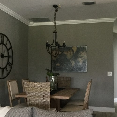 My 6th attempt at a lighting fixture need help for 9x11 room design