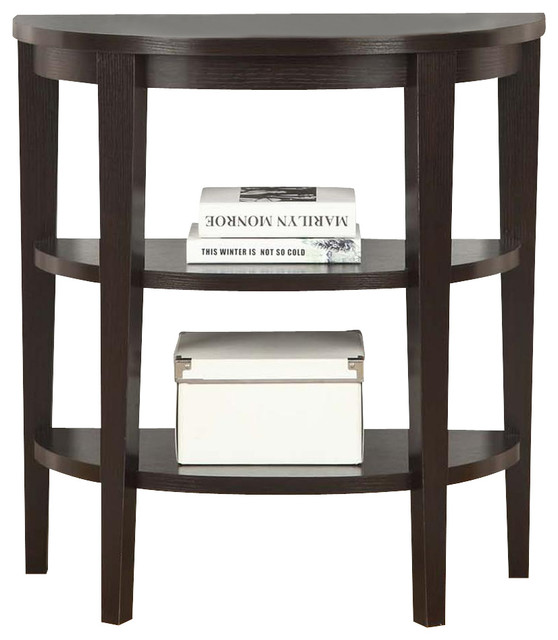 2 shelf console table contemporary console tables. Black Bedroom Furniture Sets. Home Design Ideas