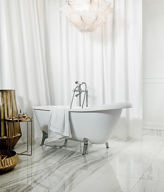 Zucchetti agora collection free standing bath mixer classico set rubinetti per vasche da - Kos vasche da bagno ...