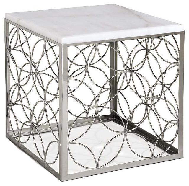 Regina Andrew Furniture Polished Nickel Cube Table