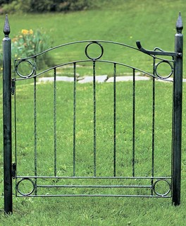 wrought iron fence gate ornamental modern. Black Bedroom Furniture Sets. Home Design Ideas