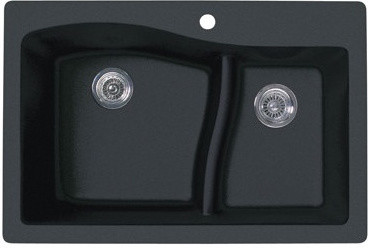 Swanstone Qzls 3322 077 Drop In Large Small Bowl Kitchen