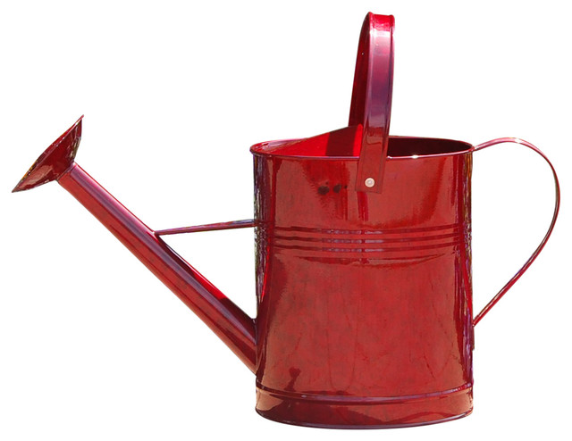 Metal watering can red 1 gallons classico innaffiatoi di austram - Gallon metal watering can ...