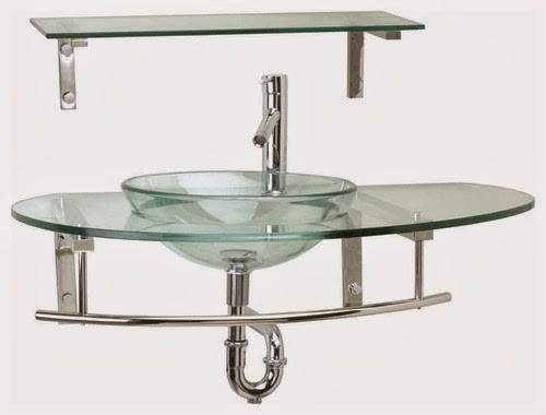 Glass Wall Mount Sink : Wall Mount Glass Vessel Sinks - Traditional - Bathroom Sinks - boston ...