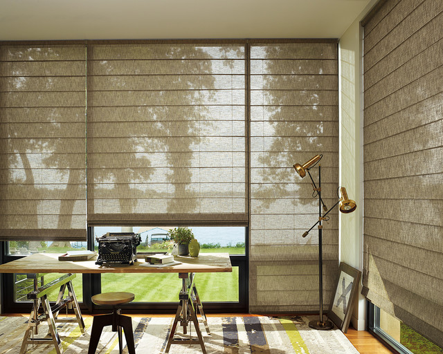 Hunter douglas alustra collection transitional window - Home decorators collection blinds installation instructions ideas ...