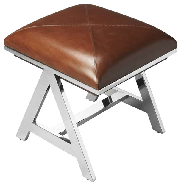 butler stool nickel modern vanity stools and benches