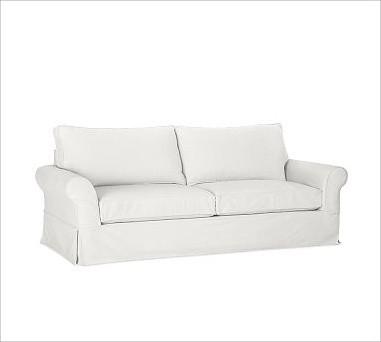 Pb Comfort Roll Arm Grand Sofa With Box Cushion Slipcover