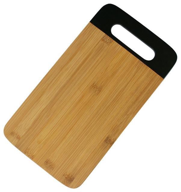 Modern Bamboo Cutting Board Bread Board Black Contemporary Cutting Boar