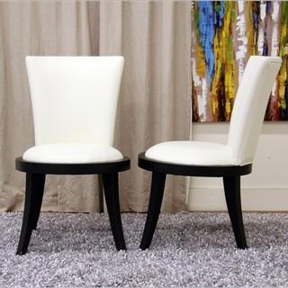 baxton studio neptune side chair set of 2 modern