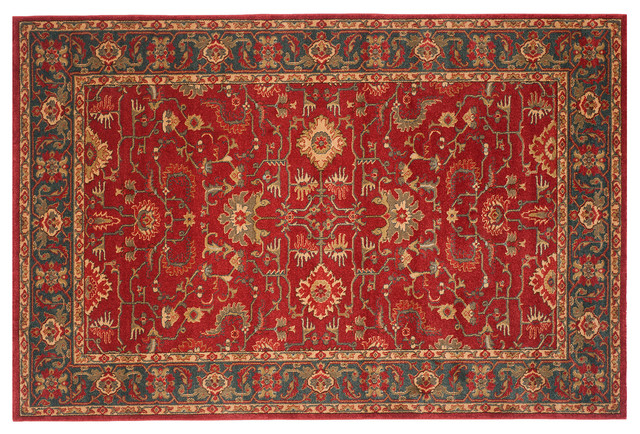 Landon rug red navy contemporary area rugs for Red and navy rug