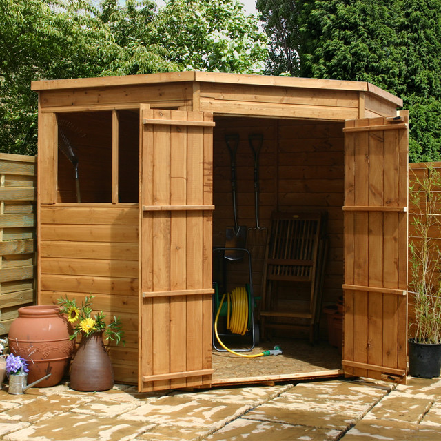Waltons 7x7 corner shed for 7x7 modern house