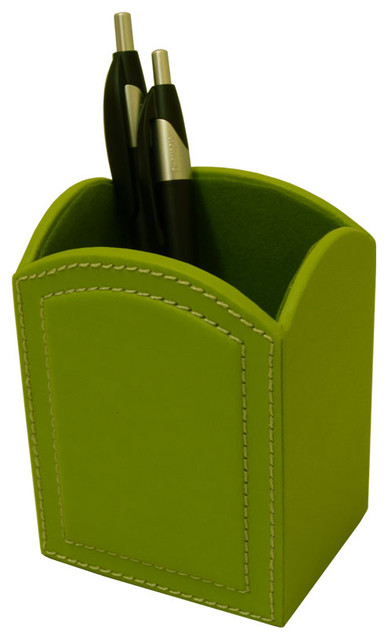 Dacasso Colors Pencil Cup Lime Green Traditional Desk