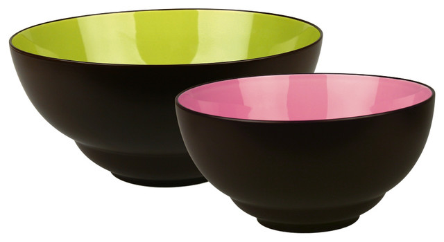 Duo set of 2 serving bowls duo modern serving and salad bowls by