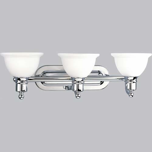 P3163 15 Madison Polished Chrome Three Light Bath Fixture Modern Bathroom Vanity Lighting