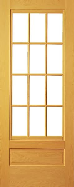 Trellis pine door with screen screen doors by for Door and screen door combo
