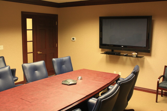 Conference Room Flat Screen Tv Contemporary Home