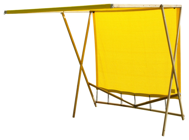 Shark Shade Portable Shade Blue And Yellow Beach Style Patio Furniture And Outdoor Furniture