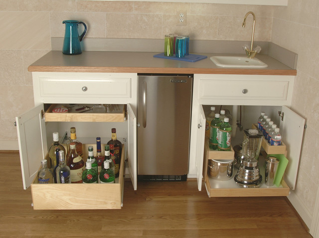 Pull Out Shelves for Your Wet Bar - Kitchen Drawer Organizers - other metro - by ShelfGenie National