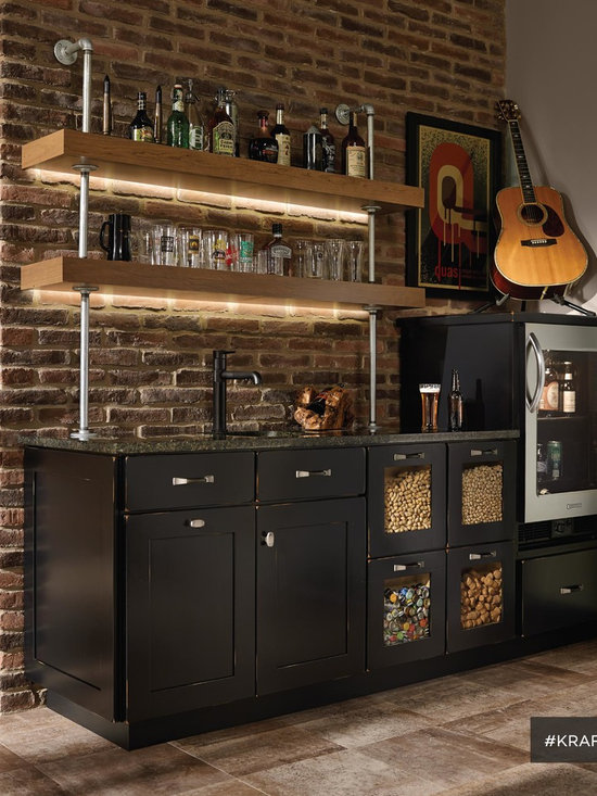 Kraftmaid Mushroom Color Cabinets Home Bar Design Ideas, Pictures, Remodel & Decor