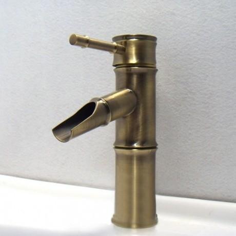 Jollyhome Bamboo Design Bathroom Faucet Brass Modern