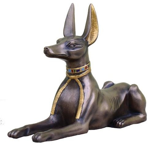 5 5 Inch Cold Cast Bronze Egyptian Anubis Statue With