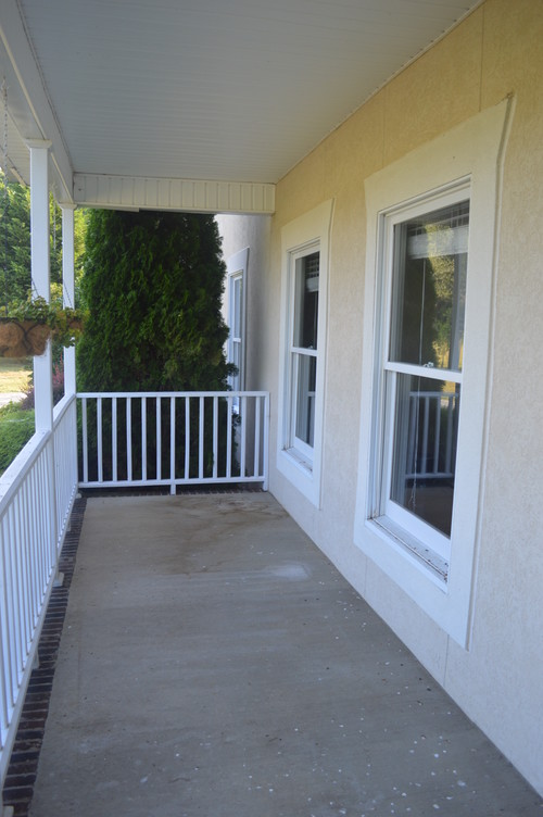 What color to paint front porch concrete for Concrete front porch paint ideas