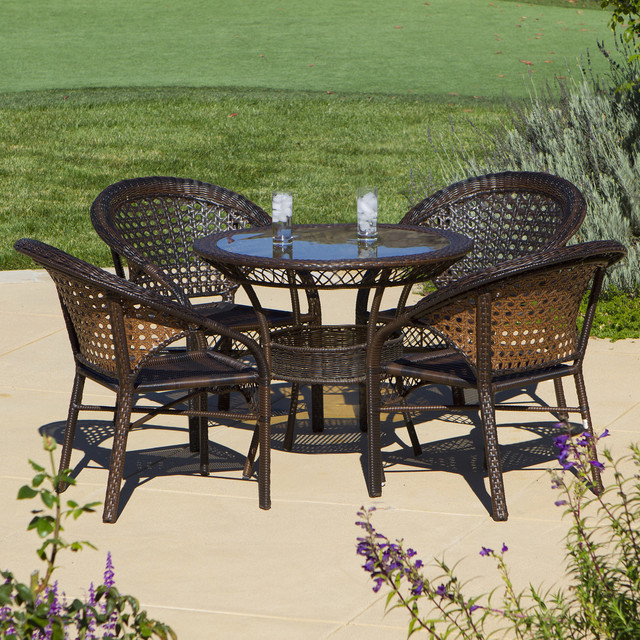 christopher knight home outdoor 5 piece wicker dining bistro table set contemporary indoor. Black Bedroom Furniture Sets. Home Design Ideas