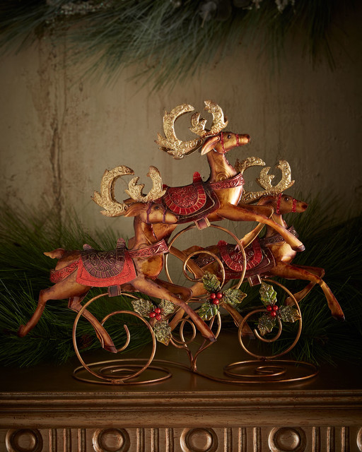 Reindeer table centerpiece holiday accents and figurines