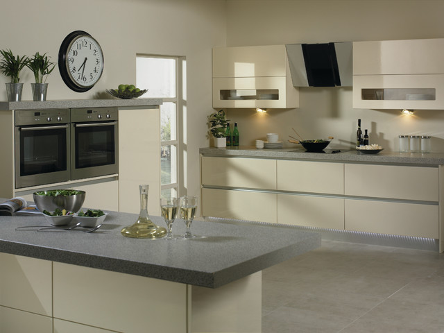 High Gloss Cream Kitchens  Modern  Kitchen Cabinets  Other  by Do