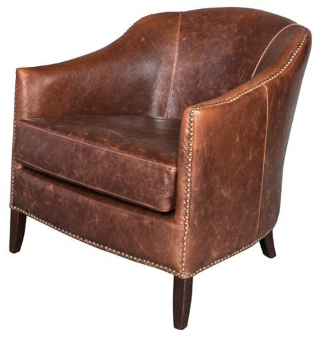 madison leather accent chair club traditional living room chairs