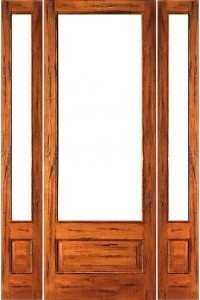 Pre Hung Rustic 1 Lite P B French Solid Wood Ig Glass