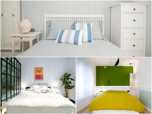 Deco sobre la cama cabecero cuadros o pared de acento - Cuadros encima cabecero cama ...