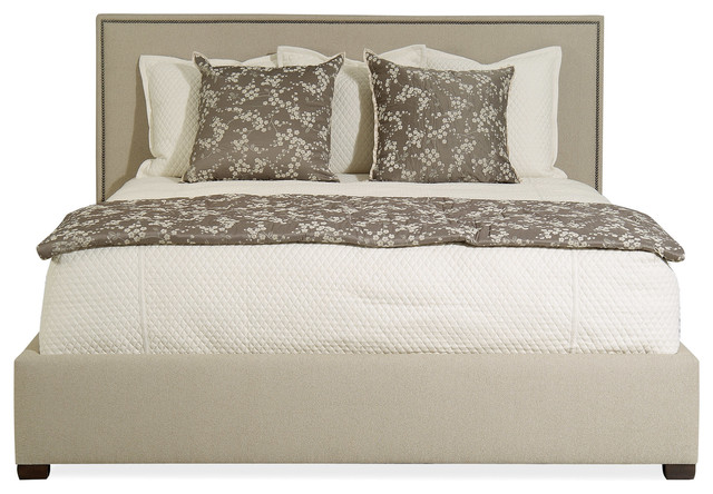 Brentwood Upholstered Bed Contemporary Beds Santa Barbara By Cabana Home