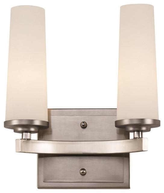 Trans Globe 2 Light Bath Vanity with Satin Nickel Finish - 20242 SN - Modern - Bathroom Vanity ...