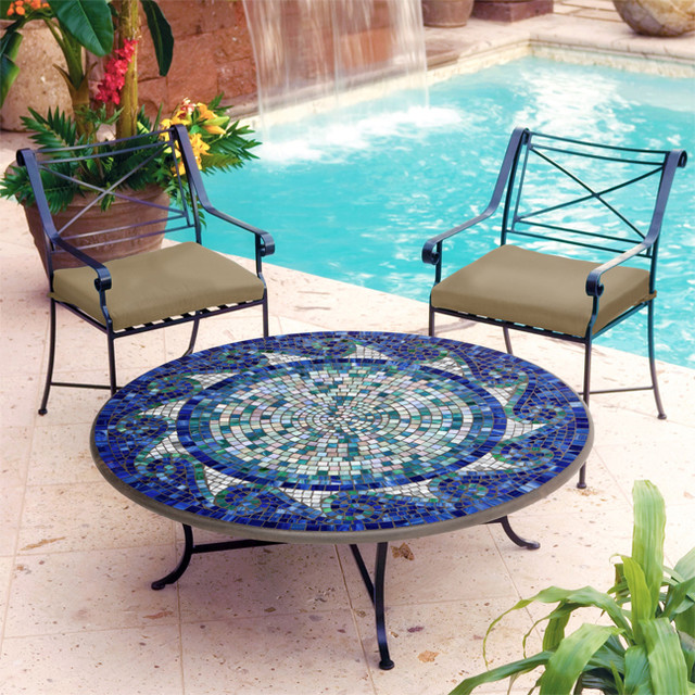 Iron And Mosaic Coffee Table