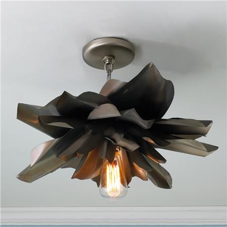 Vintage Magnolia Blossom Semi Flush Ceiling Light - Shades of Light eclectic-flush-mount-ceiling-lighting