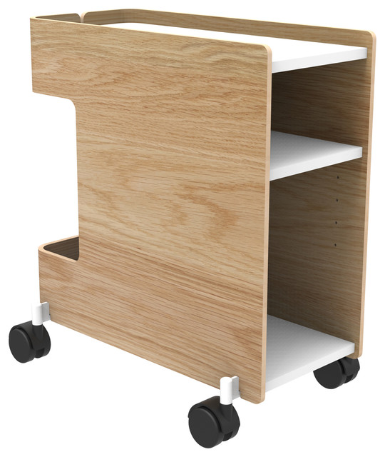 Corral Cove Cart, Narrow, Oak - Modern - Filing Cabinets - by Design Public
