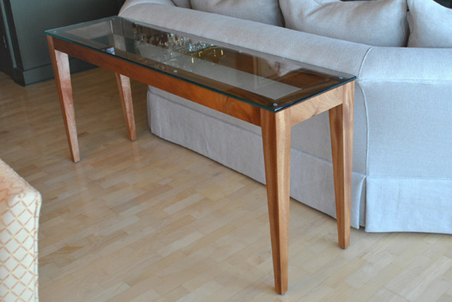 glass console table furniture 1