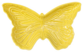 Charles Sadek Import Co Yellow Ceramic Butterfly Dish - Contemporary - Home Decor - by Sears