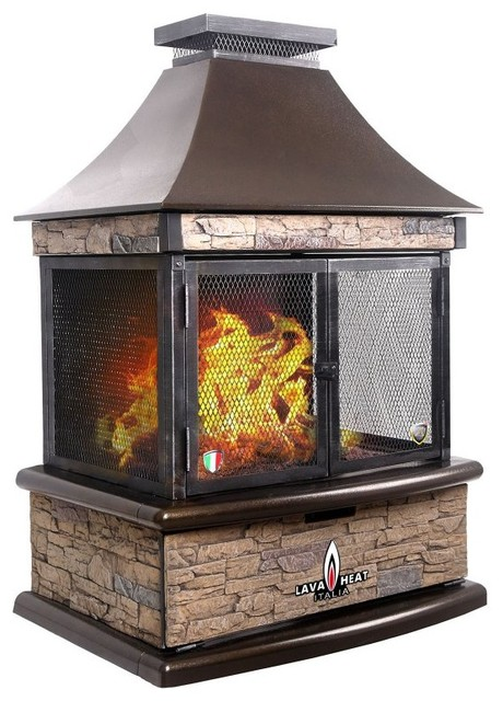 Lava Heat Lorenzo Propane Outdoor Fireplace Lorenzo Hb Lp Contemporary Indoor Fireplaces