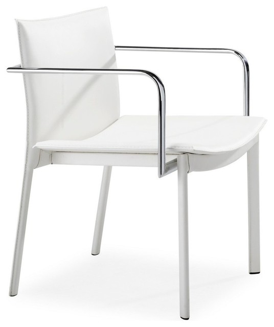 Zuo Gekko Conference Office Chair In White Set Of 2 Modern Office